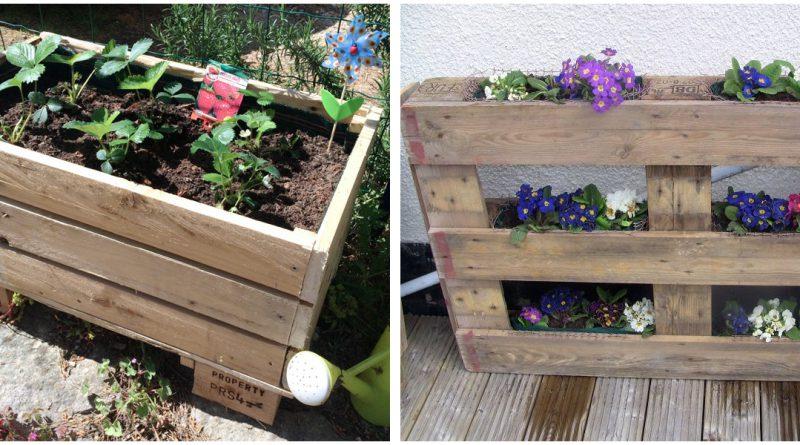 Fabriquer Sa Propre Jardiniere Avec Une Palette En Bois