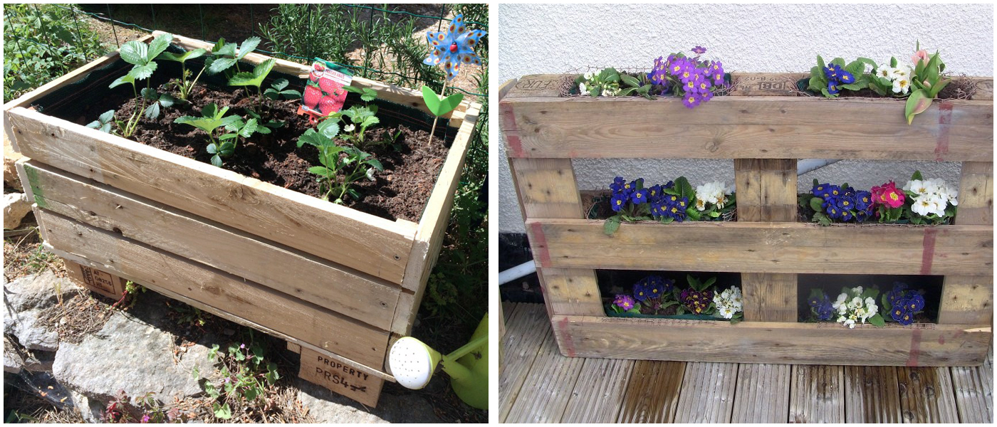 fabriquer sa propre jardini re avec une palette en bois blogue. Black Bedroom Furniture Sets. Home Design Ideas