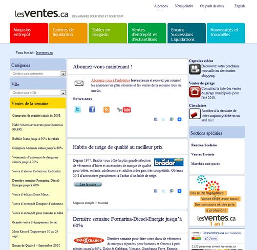 ancien site web