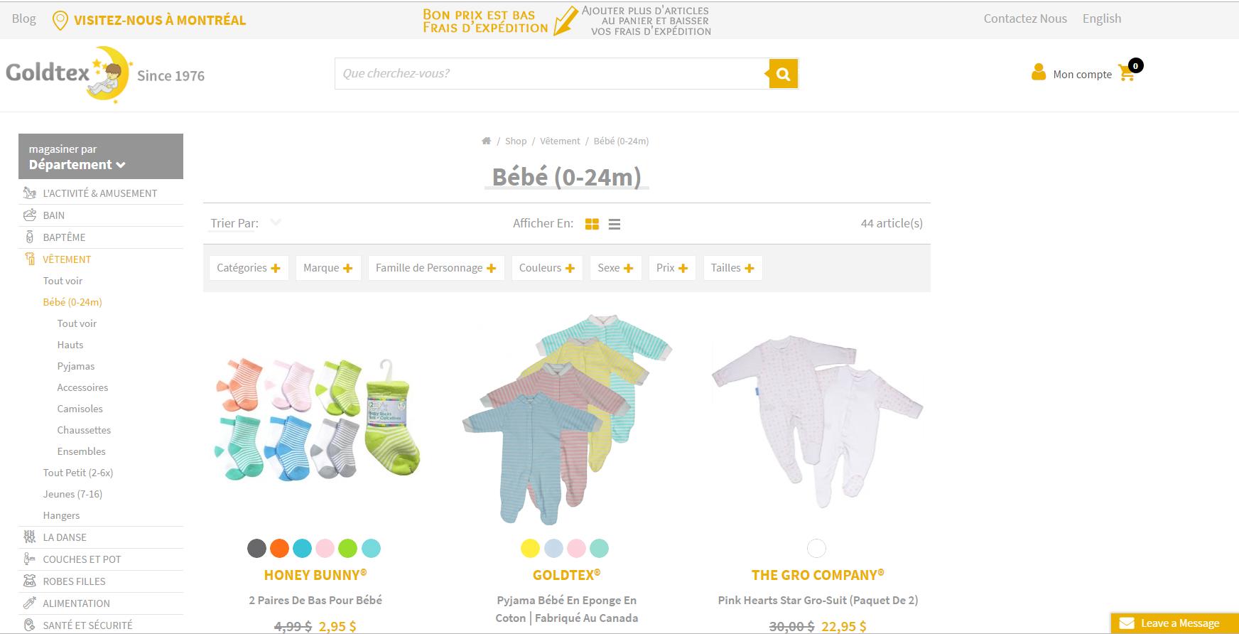 site web goldtex