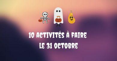10 activités à faire le 31 octobre
